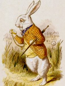 "John Tenniel's White Rabbit from ""Alice in Wonderland"""