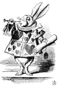 John Tenniel's White Rabbit as herald